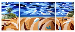 'Beach Life' Triptych © Alyson Sheldrake