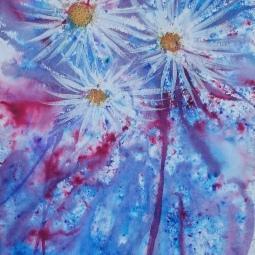 Brusho firework flowers