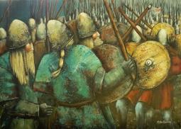 'A Viking Skirmish' © Kaye Miller-Dewing