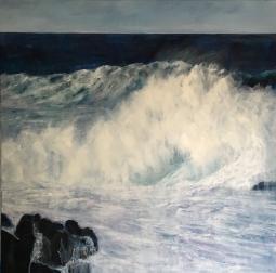 'FOAMY WAVES, PORTO MONIZ' © Caroline Wood