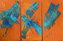 'Orange Triptych' © David M Trubshaw