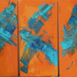 'Orange Triptych' © David M Trubshaw