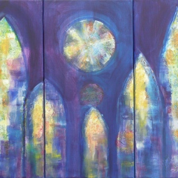 'Stained Glass Triptych' © David M Trubshaw