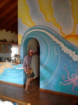'Arrifana Surf Lodge Mural' © Sophie Wills