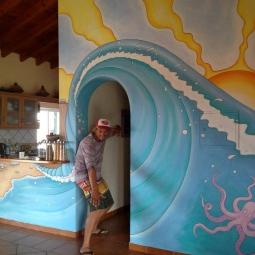 'Arrifana Surf Lodge Mural' © Sophie Wills