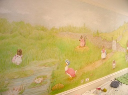 'Beatrix Potter Mural, private house, London' © Sophie Wills