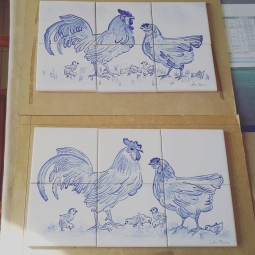 'chickens - tiles panel' © Ana Domingues Pereira