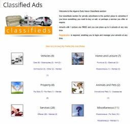 Classified Ads - Algarve Daily News