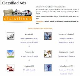 Classified Ads - Algarve Daily News