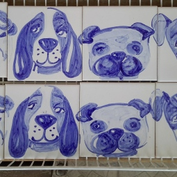 'dogs personalities - tiles' © Ana Domingues Pereira