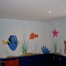 'Finding Nemo Mural, private house, London' © Sophie Wills