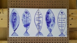 'fish - mini tile panel' © Ana Domingues Pereira