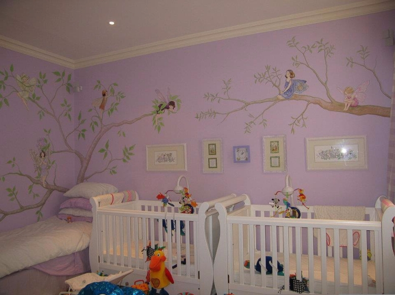 Flower fairies forest mural, private house, London