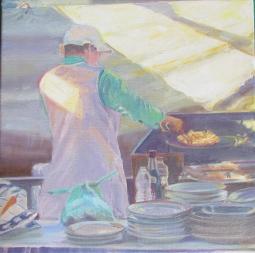 'Girl cooking chips Aljezur market' © Steph Hayman
