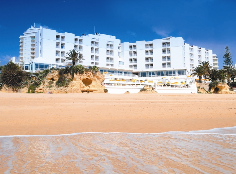 Holiday Inn located on the beach