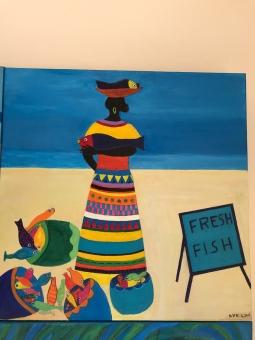 'Inspired by Caribbean Art 1' © Anneke Verschoor Kuipers