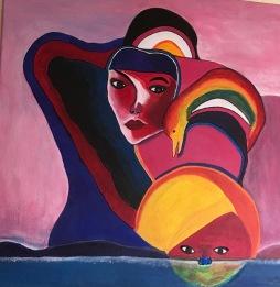 'Inspired by Haitian art' © Anneke Verschoor Kuipers