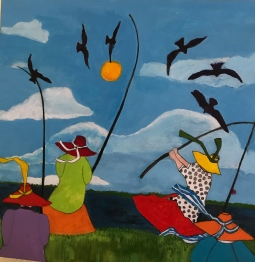 'Inspired by Let's go Fishing' © Anneke Verschoor Kuipers