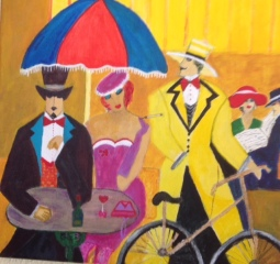 'Inspired by Isaac Maimon let's take a bicycle' © Anneke Verschoor Kuipers