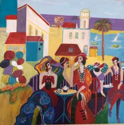 'Inspired by Isaac Maimon Tea Time' © Anneke Verschoor Kuipers