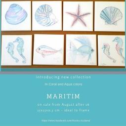 'Maritim series - tiles paintings' © Ana Domingues Pereira