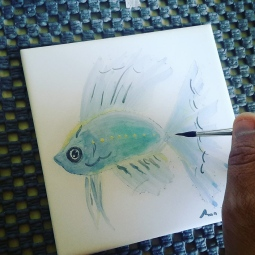 'maritime - tile painting' © Ana Domingues Pereira