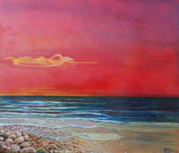nr 3 'Pebbles Sunset at Sea' © Joke van der Steen