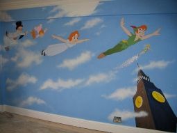 'Peter Pan mural, private house, London' © Sophie Wills