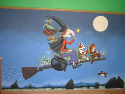 'Room on the Broom mural, private house, London' © Sophie Wills