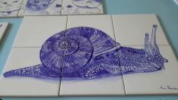 'snail tiles panel' © Ana Domingues Pereira