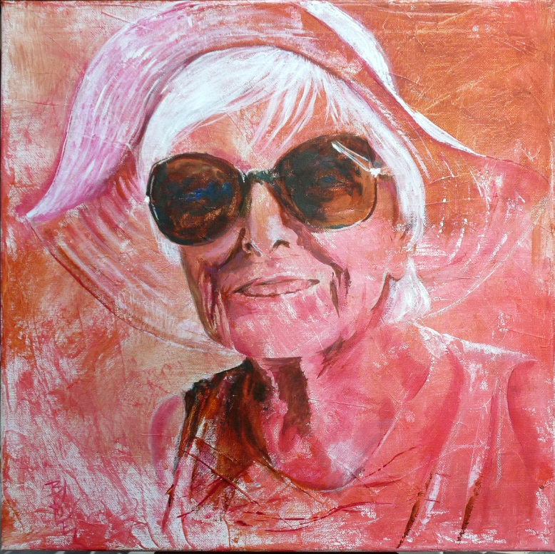 Sunglasses -Acrylic on canvas 40x40cm