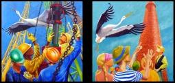 'Take Refuge' Pair of Paintings © BJ Boulter