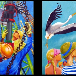 'Take Refuge' Pair of Paintings © BJ Boulter