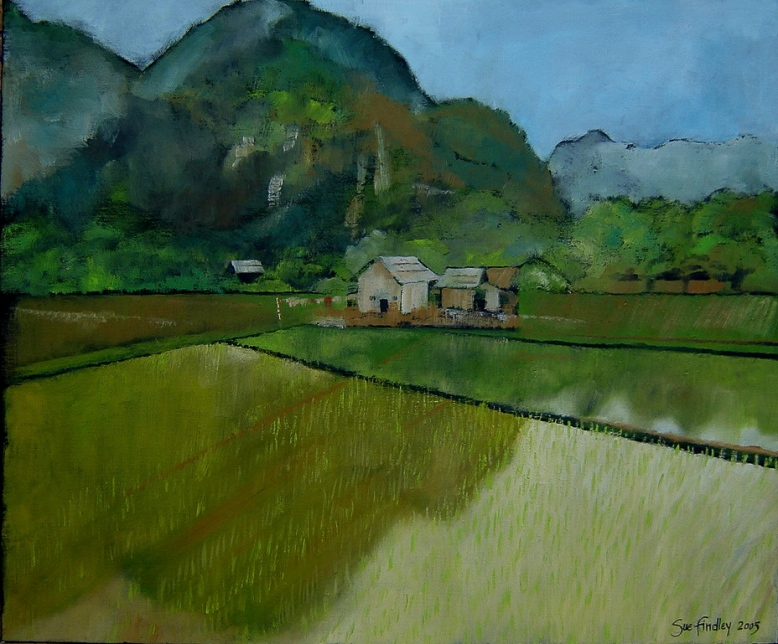 10. Vietnamese landscape. Oil on canvas 50x60