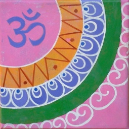 20. India. Acrylic on canvas 20x20