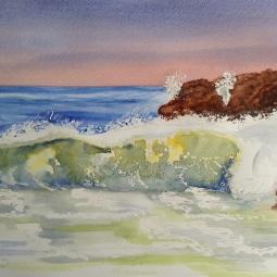 'Art Class - Crashing Wave' © Malcolm Hyde