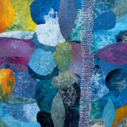 'Am See' collage © Gudrun Bartels