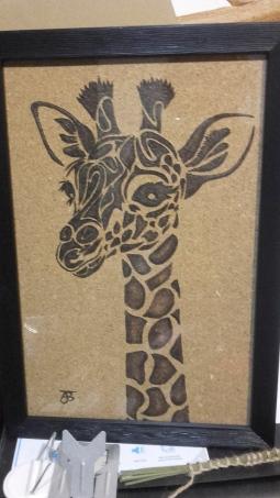 'Giraffe on Cork' © Andrea Barlow