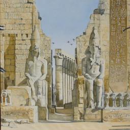 'Ibises alight upon Luxor' © Ben Helmink