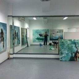 'In the Studio' © Meinke Flesseman
