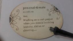 'Procraftinate Sign' © Andrea Barlow