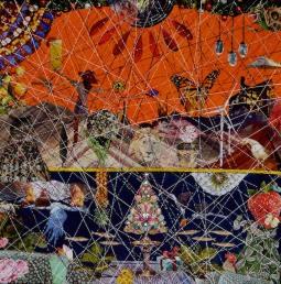 'Weihnachtsbaum2' Collage © Gudrun Bartels