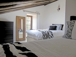 Zebra room with juliet balcony & views of the river