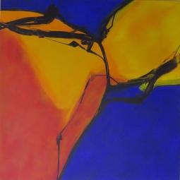 5__1m x 1m, no title, acrylic on canvas