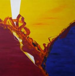 7__2m x 2m, no title, acrylic on canvas
