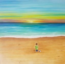 'Boy on Beach' © Art Sauvage