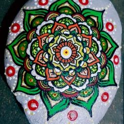 'handpainted medium stone mandala' © Free Spirits Artworks