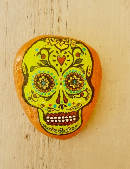 'handpainted small stone mexico' © Free Spirits Artworks