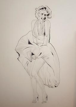 'Marilyn Monroe mural 1' © Art Sauvage