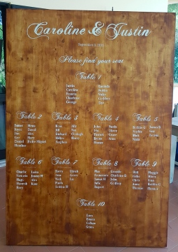 'wedding table plan large 2' © Free Spirits Artworks